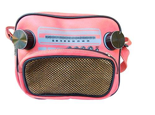 Jukebox Musicbox Borsa A Tracolla Borsa Da Donna Piggy Rosa Con Cerniera 25,5x21x9 Cm