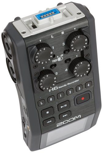 Zoom H6 6-Track Portable Recorder, Stereo Microphones, 4 XLR/TRS Inputs, Records to SD Card, USB Audio Interface, Battery Powered, for Stereo/Multitrack Audio for Video, Podcasting, and Music