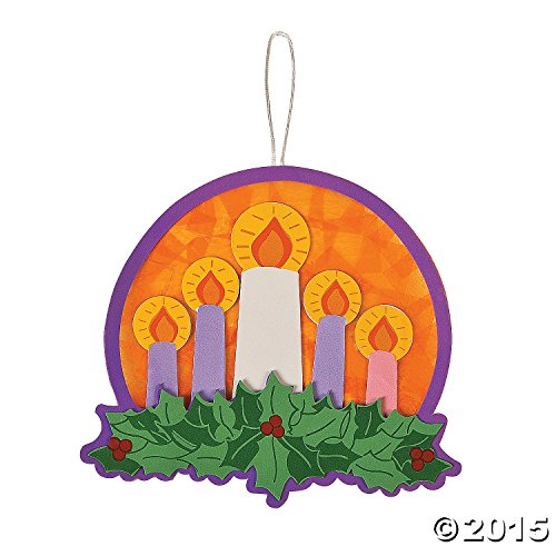 Oriental Trading Tissue Acetate Advent Wreath Craft -