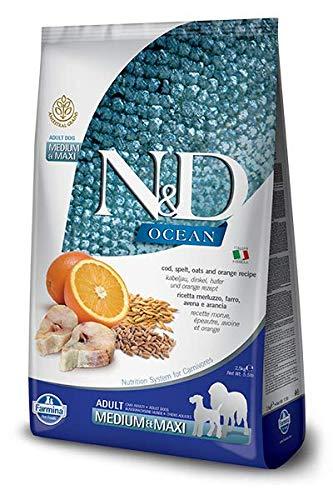 Farmina Natural & Delicious Ocean Ancestral Grain Cod & Orange Adult Medium & Maxi Dog Food 26.4 lb ()