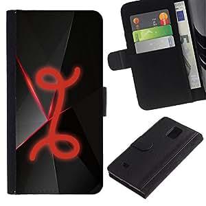 All Phone Most Case / Oferta Especial Cáscara Funda de cuero Monedero Cubierta de proteccion Caso / Wallet Case for Samsung Galaxy Note 4 IV // I