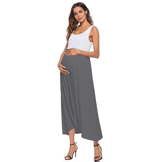 b8b8df930a2f9 Women Pregnancy Dress - Maternity Sleeveless Fashion Summer Casual  Maternity Dress at Amazon Women's Clothing store: