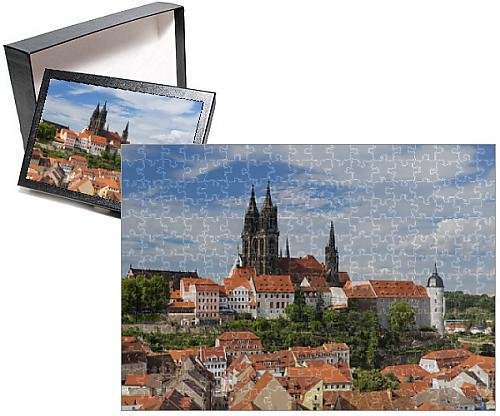 Price comparison product image Photo Jigsaw Puzzle of View of Cathedral and Albrechtsburg,  Meissen,  Saxony,  Germany,  Europe