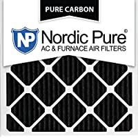 Nordic Pure 12x12x1PCP-3 12x12x1 Pure Carbon Pleated Ac Furnace Filters Qty 3