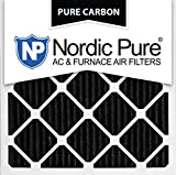 Nordic Pure 24x24x1PCP-3 24x24x1 Pure Carbon Pleated Ac Furnace Filters Qty 3
