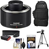 Fujifilm Fujinon XF 2x TC WR Teleconverter with Backpack Case + Tripod + Strap + Kit