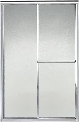 STERLING 5960-44S Shower Door Bypass 65-1 2 H x 39 – 44 W Pebbled Glass Silver