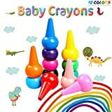 Best Toys Toddler Boys - M-Aimee Toddler Crayons,12 Colors 3D Palm-Grip Crayons Non-Toxic Review