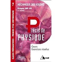 precis 7 mecanique des solides mp, pc, pt