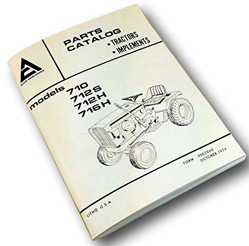 Allis Chalmers 710 712S 712H 716H Parts Catalog Manual List Lawn Garden Tractor ()