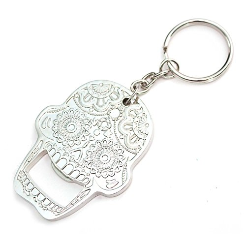 Island Dogs B00L5JJPUQ1 X Day of the Dead Sugar Candy Skull Key Chain Bottle Opener