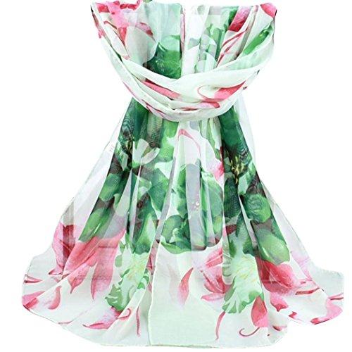 Soie Foulards Multifonctions De Mode Femmes Châle Vert Doux Wrap Ont Echarpe Imprimé Le Écharpe Mousseline Adeshop Chic Élégant D'écharpes Plage qUYxadwXU