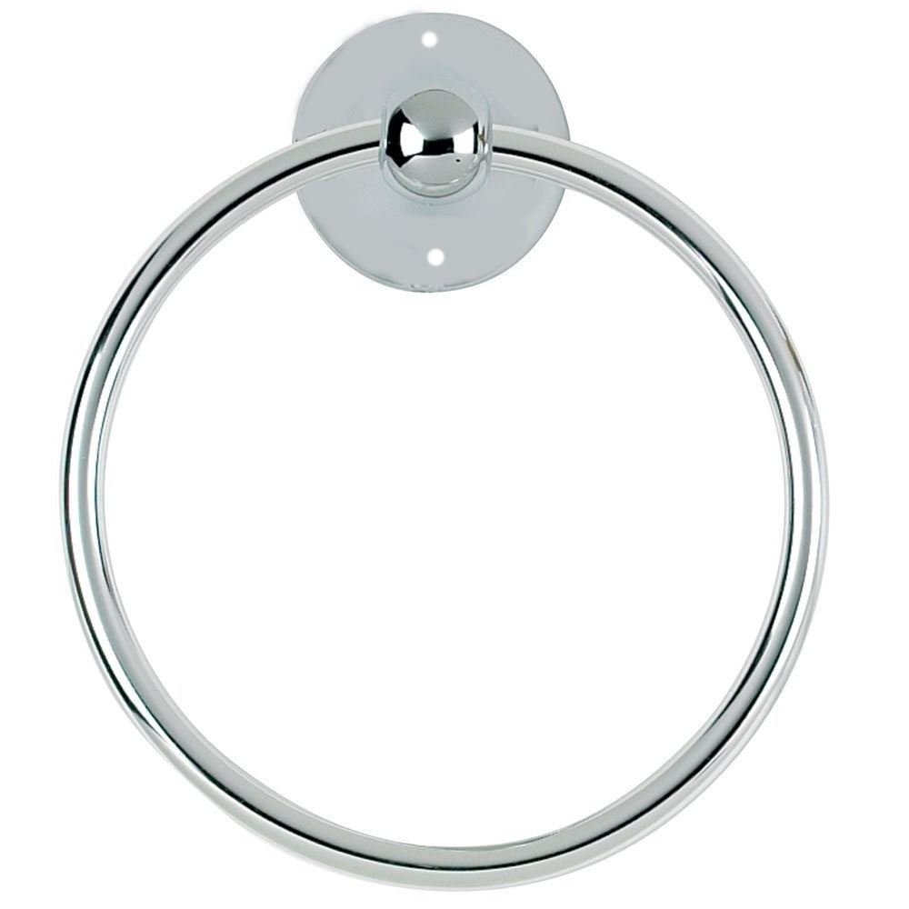 Chrome Towel Ring Luxury Round Hand Ring Holder Wall Mounted For Kitchen Bathroom Accessory Bath Toilet Concept4u