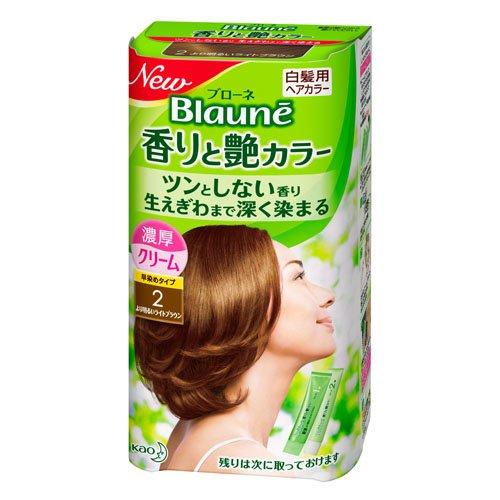 【花王】ブローネ 香りと艶カラー クリーム 2:より明るいライトブラウン 80g ×20個セット B00URAJDCO
