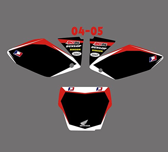 DST0012 Motorcross Graphics Custom Decal Kit 3M for Honda CRF250R CRF250 CRF 250R 250 2004 2005 Graphic Background Decals