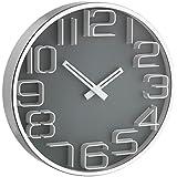 TFA 3D Look Wall Clock, Grey