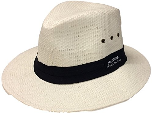 (Panama Jack Men's Matte Toyo Safari Hat (Ivory, Large))