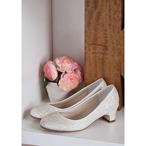 Elsa Bianco Coloured donna Scarpe Avorio tacco Shoes Tina col 7Z4Aqw7d