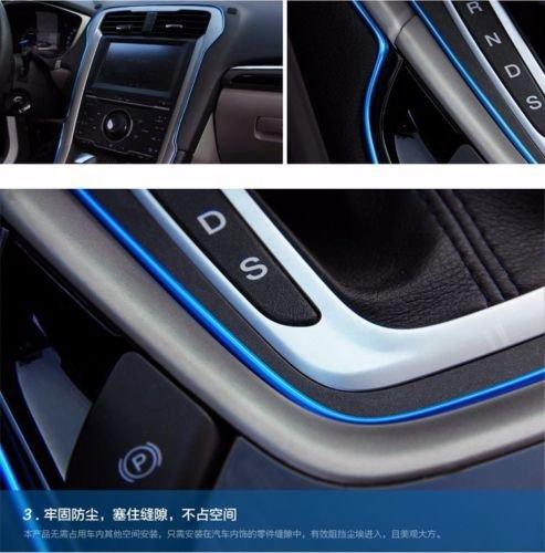 5M AUTO ACCESSORIES CAR Universal Interior Decorative Blue Strip CHROME Shiny (Pvc Pipe Outdoor Furniture Cushions)