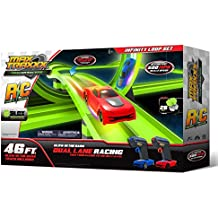 Max Traxxx R/C Award Winning Tracer Racers High Speed Remote Control 'Infinity Loop' Track Set with Two Cars for Dual Racing