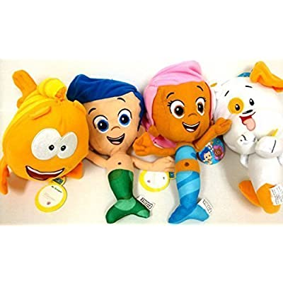 Bubble Guppies Gil, Molly, Seor Grouper y Bubble Puppy 4Plush Doll Sets: Office Products