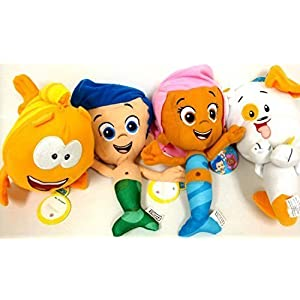 bubble guppies gil, molly, mr grouper and bubble puppy 4 plush doll sets - 51WQEv1U8HL - Bubble Guppies Gil, Molly, Mr Grouper and Bubble Puppy 4 Plush Doll Sets