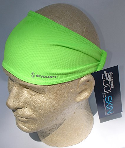(Schampa Doo-z Cool Skin Head Wear Wrap Neon Green Biker Bandanna, One Size Biker Head Wrap )