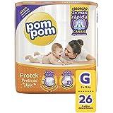 Fralda PomPom Protek Proteção de Mãe, G, Jumbo, pacote de 26