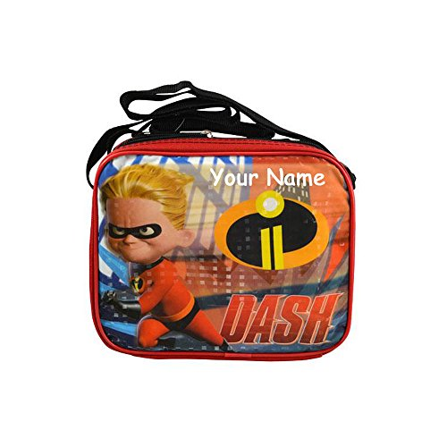 Personalized Disney Pixar The Incredibles 2 Movie Character Dash Soft School Lunchbox Lunch Bag - 9 Inches by Disney