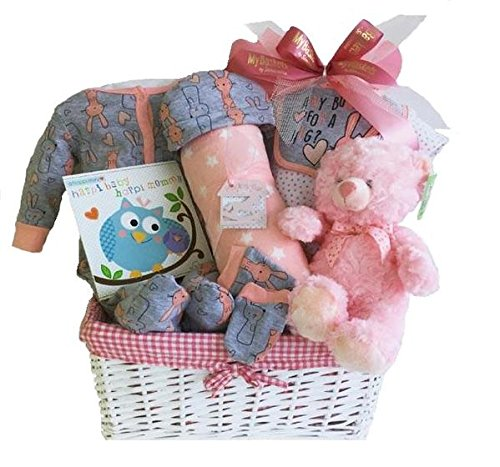 Newborn Baby Girl Gift Basket Simontea Gift Baskets