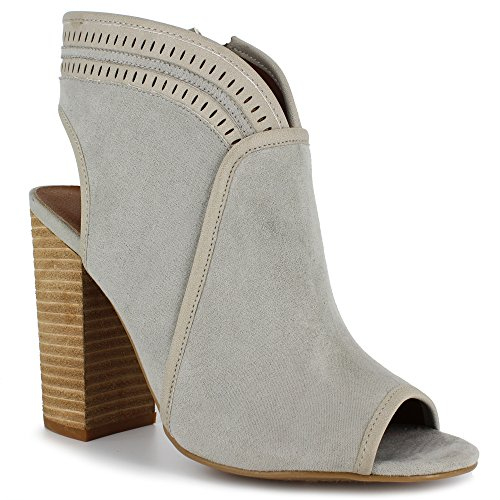 Dolce Door Mojo Moxy Dames Zomer Bootie Duif