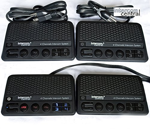 Intercom Central GROUND wire Power-line 4 CHANNELS Intercom System, Four Stations Set.