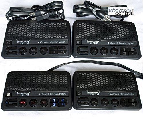 Intercom Central 246 - 4 Channels HOME Power-line Intercom System, 3 Wire , Black, FOUR Stations Set