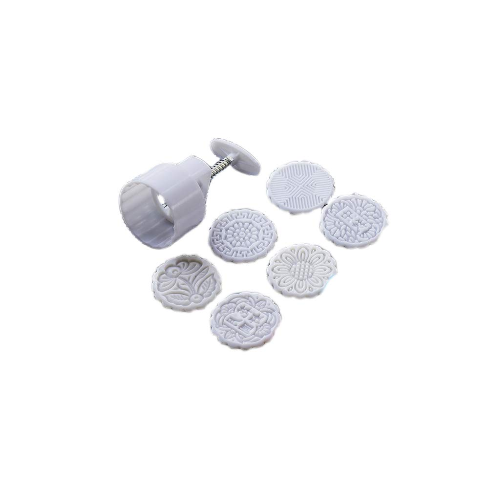 Moon Cake Mold Set - 125G Round Chinese Moon Cake Mold with 6 Stamps for Snow Skin Mooncake, Cookie Chinashow