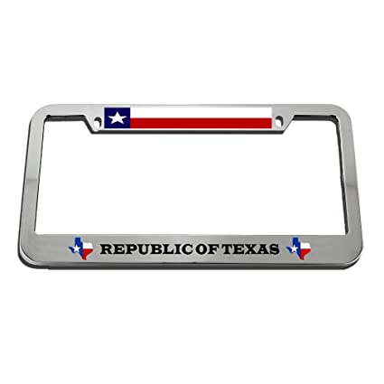 Republic Auto Of Texas >> Amazon Com Speedy Pros Republic Of Texas Zinc Metal License
