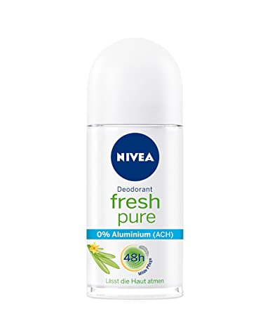 b732de41c Amazon.com : Genuine Authentic German Nivea Deodorant Fresh Pure Aluminum  Free 1.69 fl.oz/50ml : Beauty