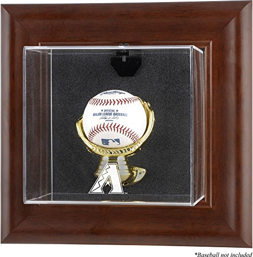 Mounted Memories Arizona Diamondbacks Brown Framed Wall Mounted Logo Baseball Case (Arizona Diamondbacks Wall Framed)