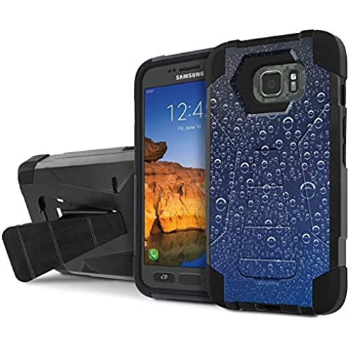 AT&T [Galaxy S7 Active] Armor Case [NakedShield] [Black/Black] Tough ShockProof [Kickstand] Phone Case - [Blue Sales