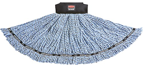 Rubbermaid Commercial 1924802 Maximizer Mop Head, Shrinkless Blend, Large, Blue by Rubbermaid Commercial Products