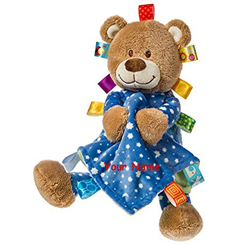 Taggies Personalized Starry Night Teddy Bear with Blanket Plush Stuffed Animal Toy - 12 Inches