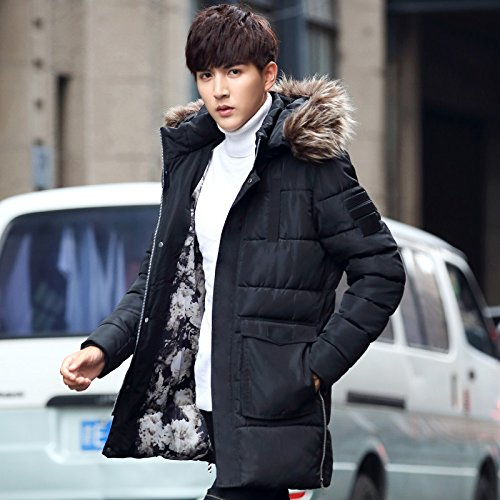 Coat Slim In Autumn XXL Young Hooded Men'S Long The Male And Men'S Coat In Long Winter ZHUDJ Cotton In PgqTzcw