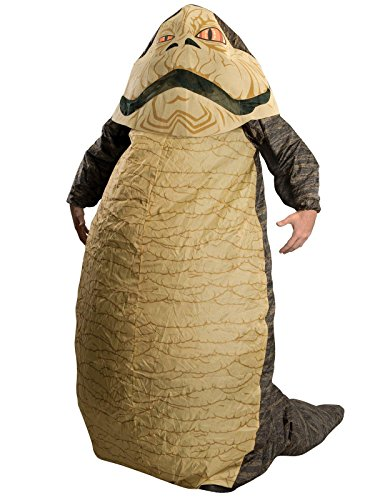 Star Wars Jabba The Hut Deluxe Inflatable Adult Costume, Brown, One Size (Fits Up to 44 Jacket Size) -