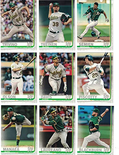 Oakland Athletics/Complete 2019 Topps Series 1 Baseball Team Set! (12 Cards) Includes 25 bonus A's Cards!