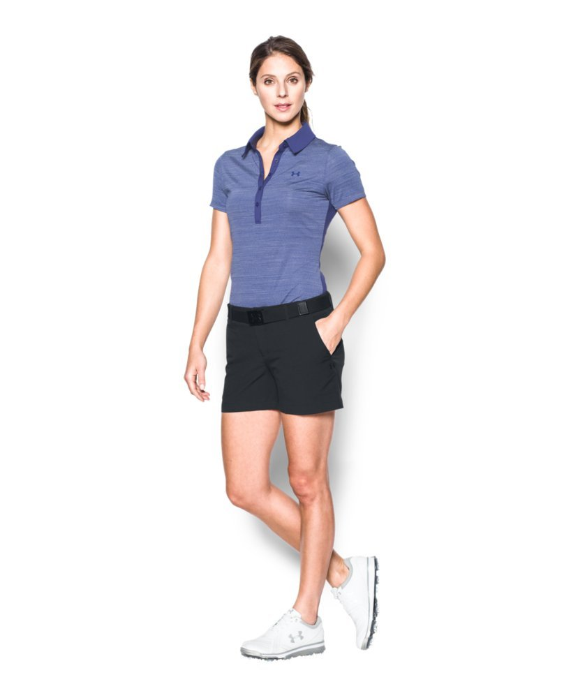 Under Armour Women's Links 4'' Shorty, Black/Black, 4 by Under Armour (Image #3)