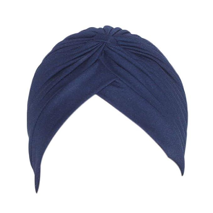 HX fashion Gorros Gorros Mujer Turban Orejeras Deportes Satin Bonnet Yoga Cap Basic Sombrero Gorros Gorros Ropa (Color : Blau, Size : One Size): Amazon.es: ...