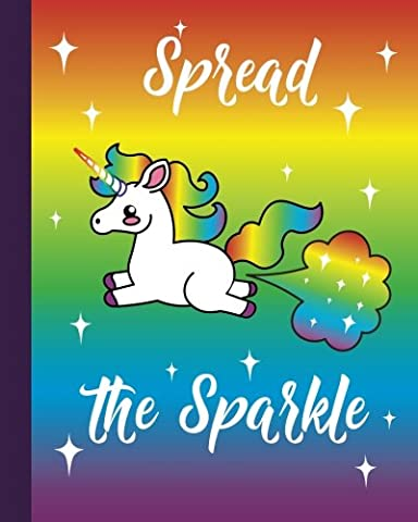 "Unicorn Fart Rainbow Emoji Quote Journal: Unicorn Writing Book - 8"" x 10"" Bullet Journal - Blank Notebook, 1/4 inch Dot Grid with 160 Pages, Sturdy ... with Cute, Magical & Funny Unicorn Cover"