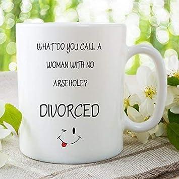 Funny Novelty contenido explícito taza divorciados celebración taza DE cerámica chiste taza de café y té