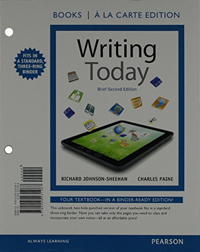 Writing Today, Brief Edition, Books a la Carte Plus MyCompLab with eText -- Access Card Package (2nd Edition)