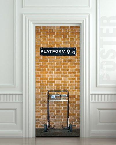 Wall Door STICKER Harry Potter Platform 9 3/4 , Mural, Decole, Film