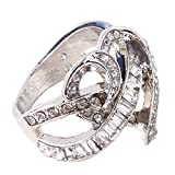 HUAMING Simulation Women Ring Diamond Cross